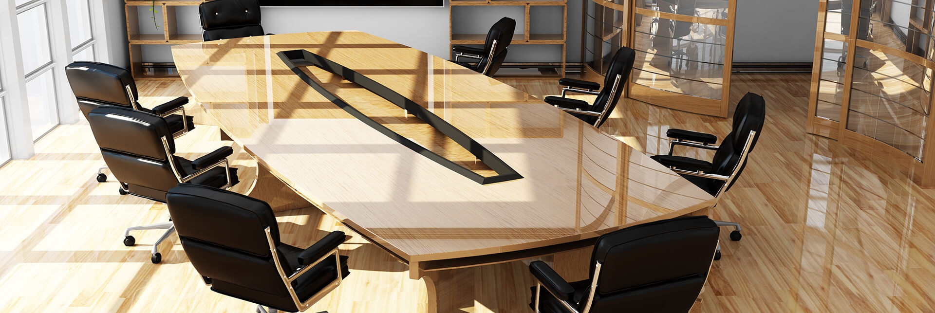שולחן ישיבות ריהוט משרדי